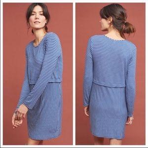 Anthropologie striped long sleeve tunic dress